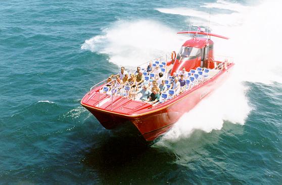 1000 Islands & Seaway Cruises' high-speed Wild Cat catamaran. (The Great Waterway)