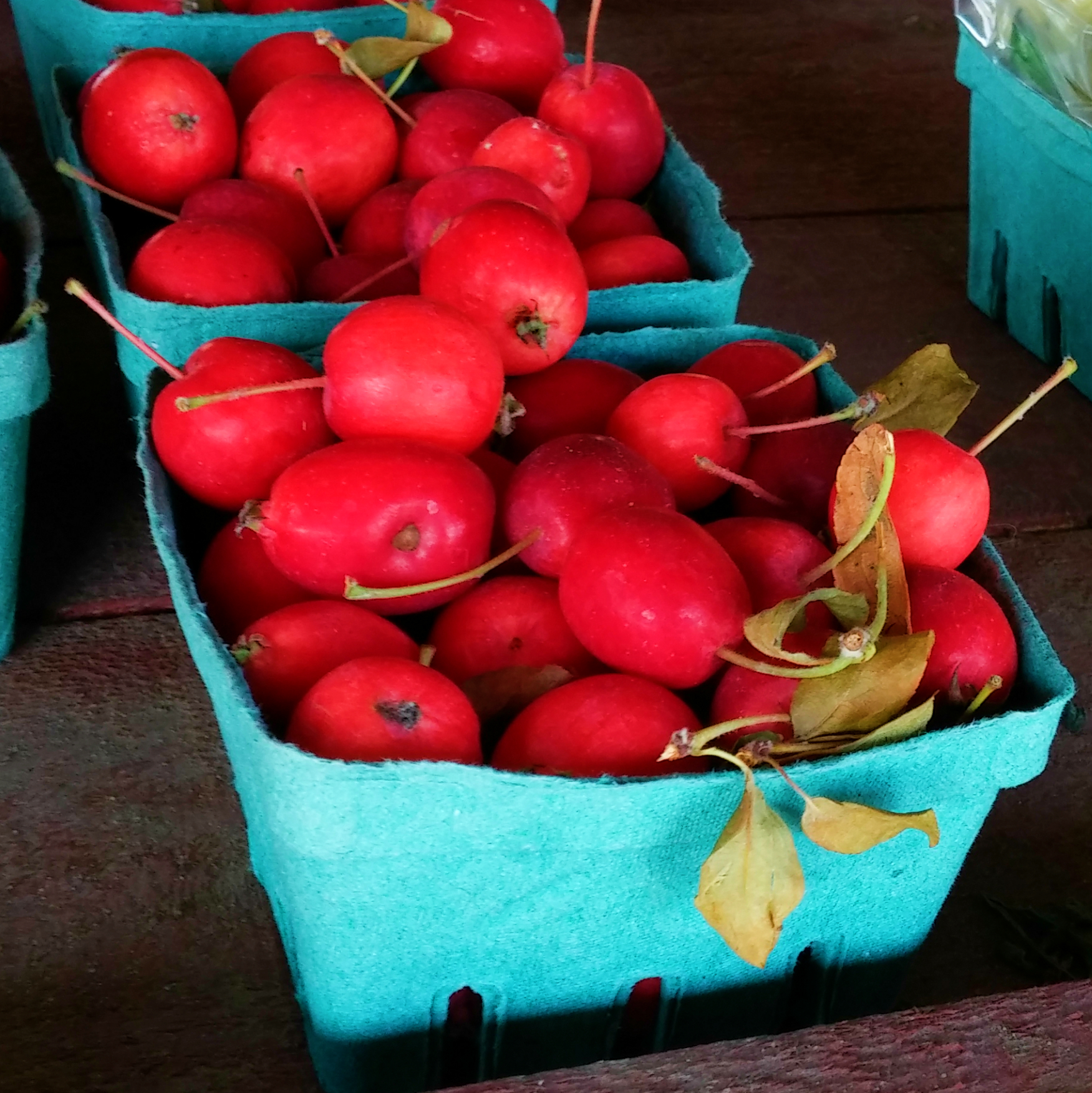 Crabapples at a farmstand in The Great Waterway