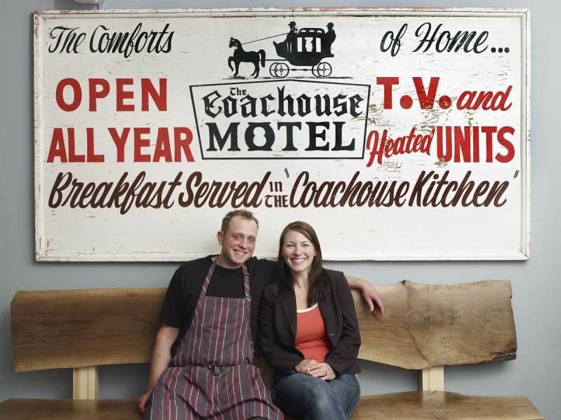 The husband-wife duo behind The Hubb Eatery and Lounge, Chef Elliot Reynolds and sommelier Laura Borutski. (Photo: The Hubb)
