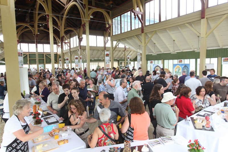 A packed crowd inside The Crystal Palace at a past Great Canadian Cheese Festival.