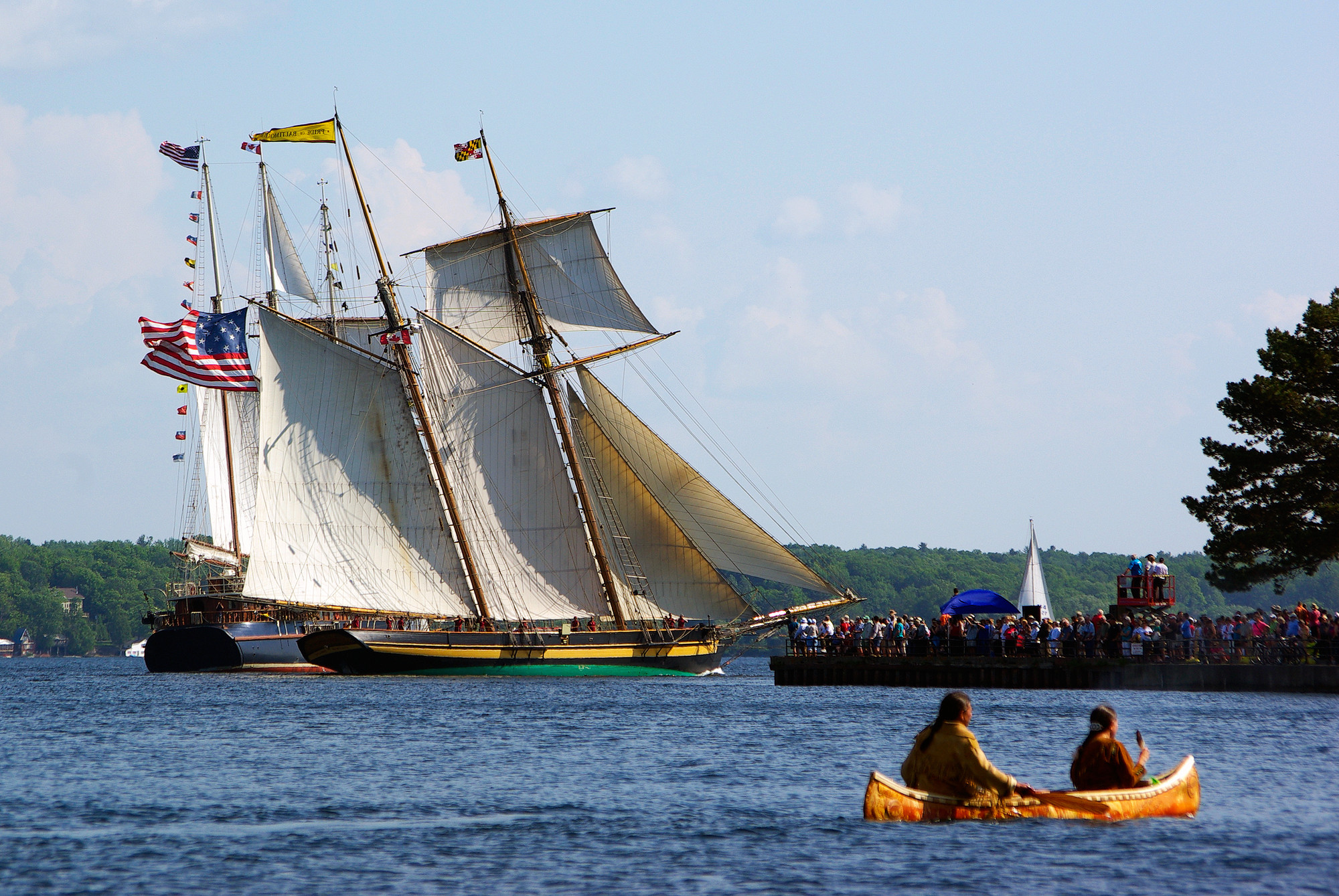 Boat aficionados of all kinds flock to Brockville's waterfront for June's All Ships Festival. (The Great Waterway)