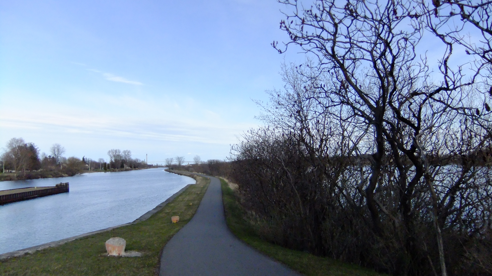 Waterfront Trail along Cornwall's historic canal