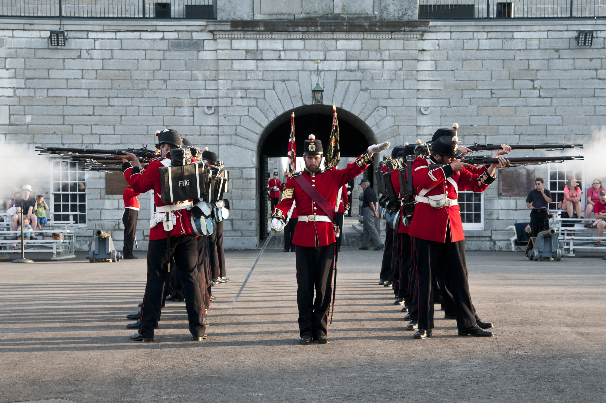 The Fort Henry Artillery Detachment at the award-winning Sunset Ceremonies. (The Great Waterway)