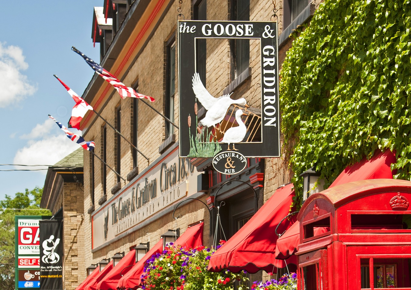 The Goose and Gridiron in Merrickville: always a great option for pub and patio fans.