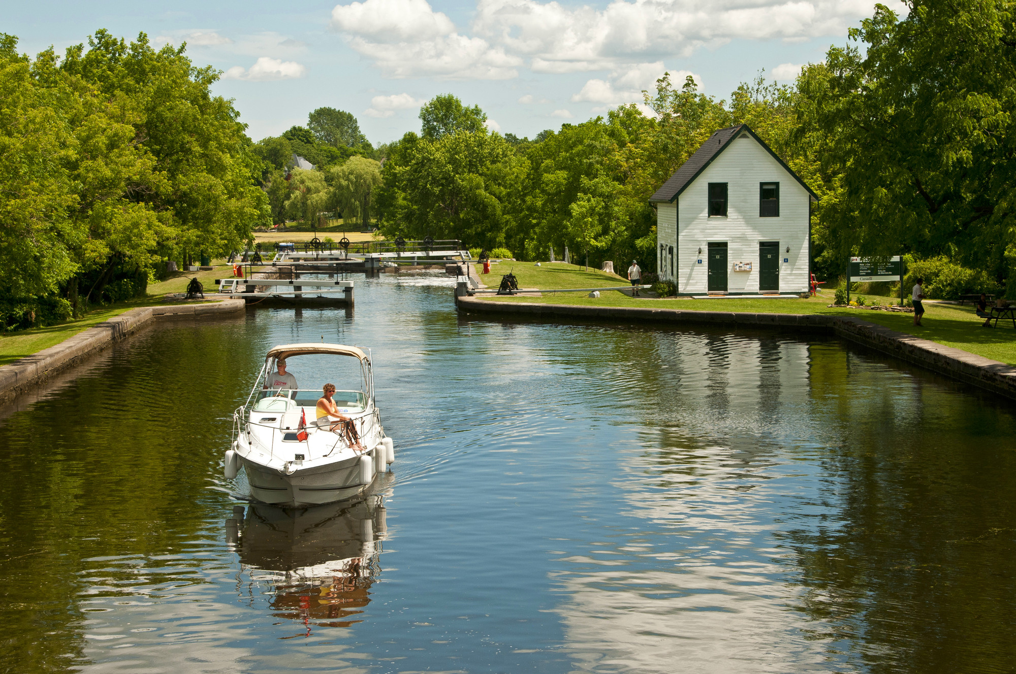 On the water in Merrickville, named Canada's most beautiful village by Communities in Bloom. (photo: The Great Waterway)