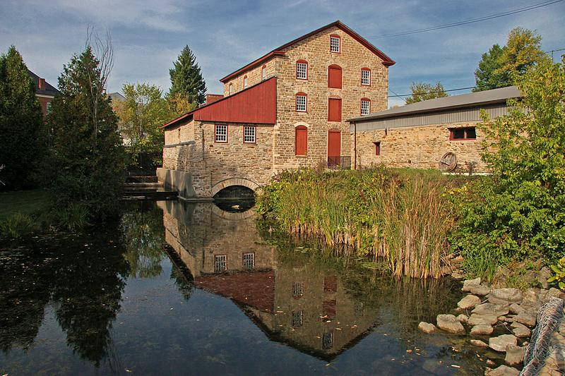 The Old Stone Mill in Delta, a National Historic Site of Canada and one of the best examples of 19th century industrial architecture in the region. (photo: Old Stone Mill)