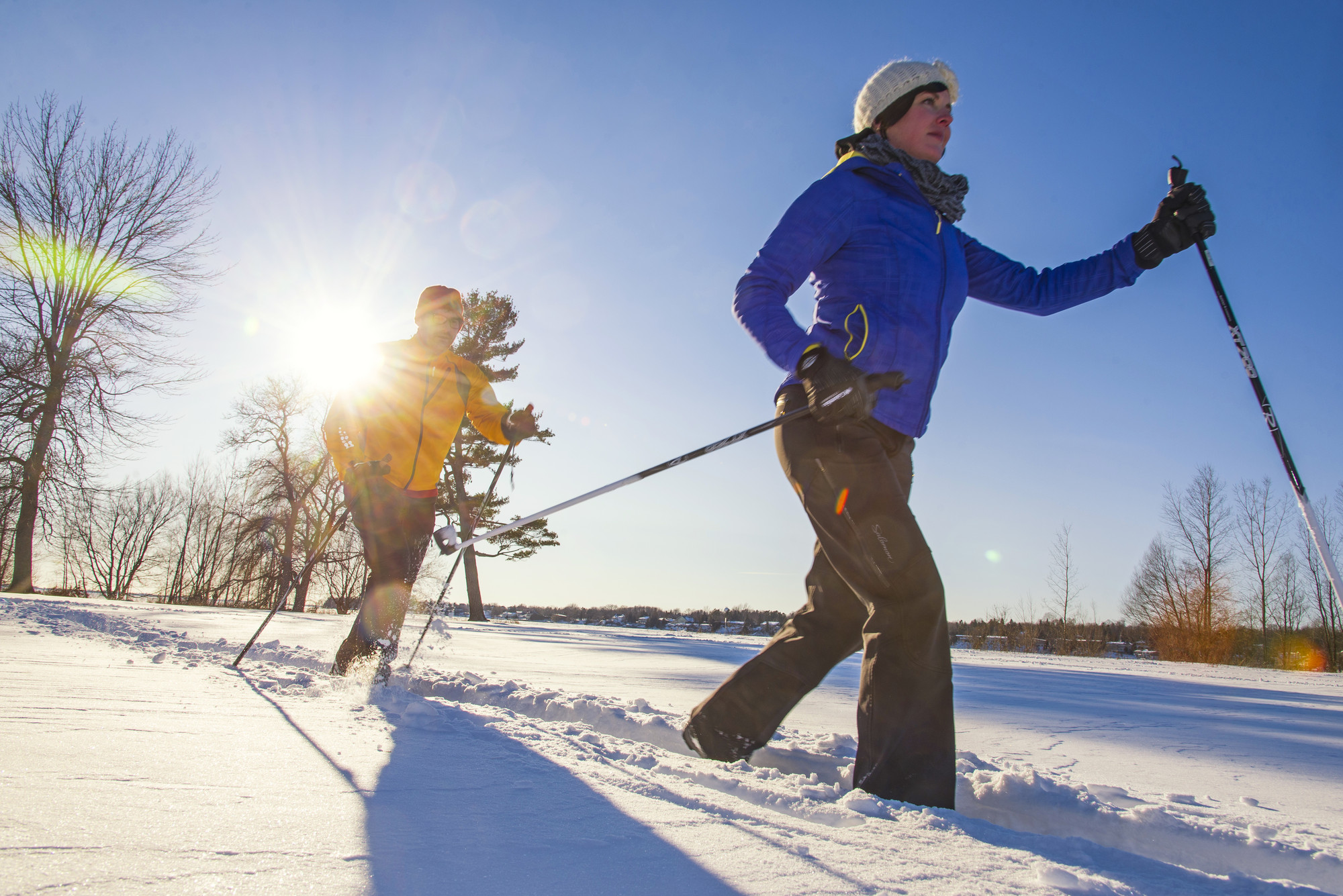 Whether you're new cross-country skiing or a veteran, there are plenty of trails for you at conservation areas here.