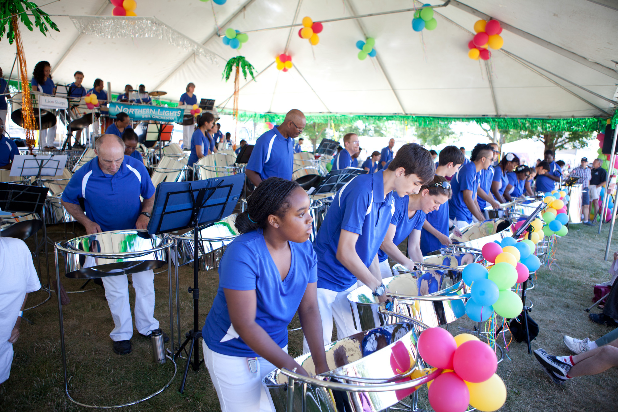 The Northern Light Steel Orchestra, always a big draw at Belleville's Waterfront & Ethnic Festival. (The Great Waterway)