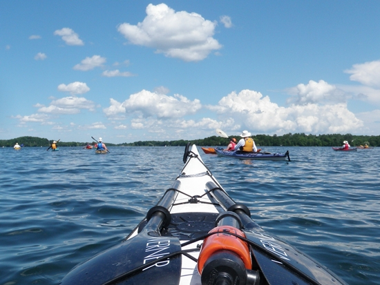 Kayaking Upper Rideau Lake
