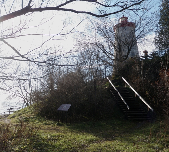 Staircase leading to the lighthouse at the Battle of the Windmill historic site