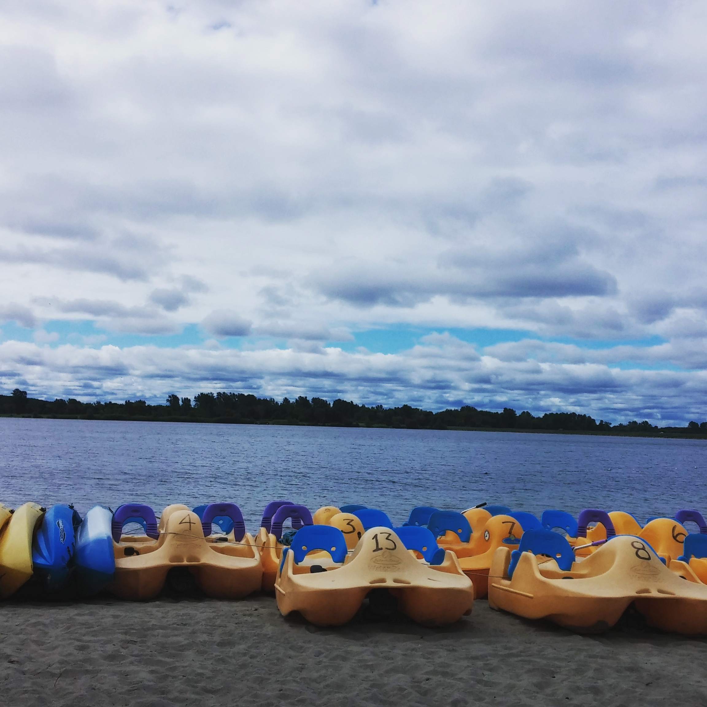 paddleboat rentals at Mille Roches Beach along the Long Sault Parkway